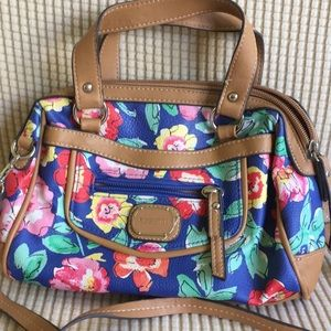 Rosetti Blue Floral Crossbody/Handbag
